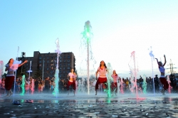 Открытие музыкального фонтана в Курске