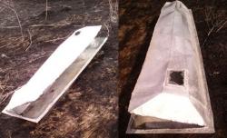 Воронежская полиция выясняет, кому принадлежал цинковый гроб, найденный в поле